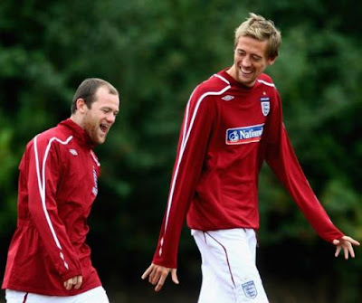 Peter Crouch and Rooney