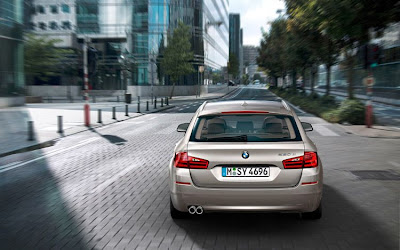 BMW 5 Series Touring Rear View