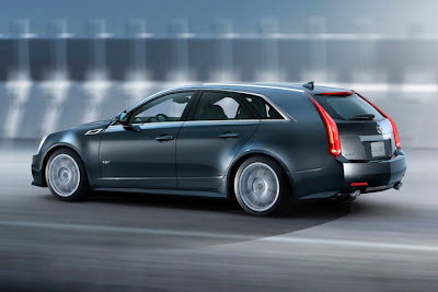 2011 Cadillac CTS-V Sport Wagon Rear Side Angle View