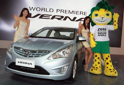 2011 Hyundai Verna-Accent Showing Cars