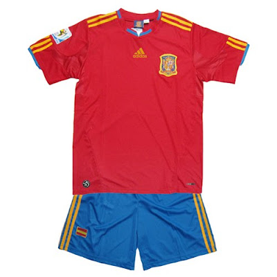 World Cup 2010 Spain Football Team Custom