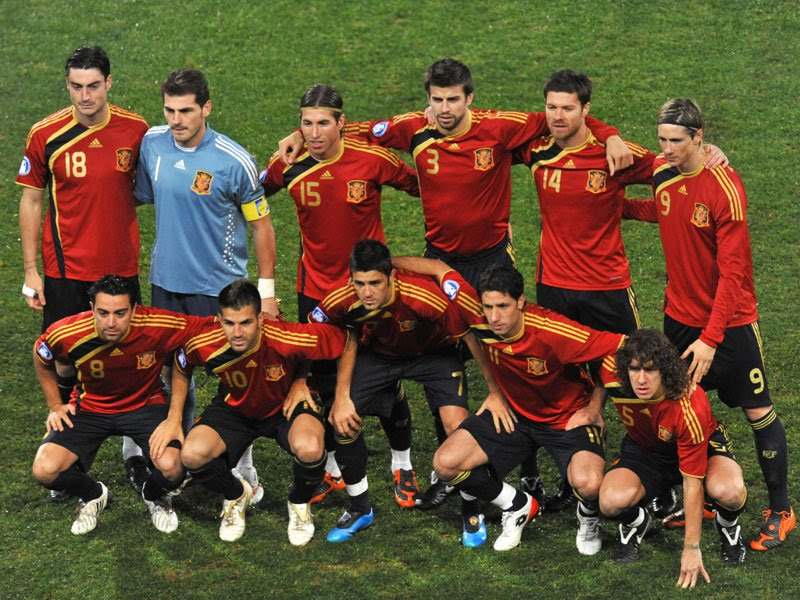 Spain soccer team 2010