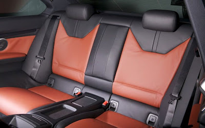 2011 BMW M3 Frozen Gray Coupe Rear Seats View
