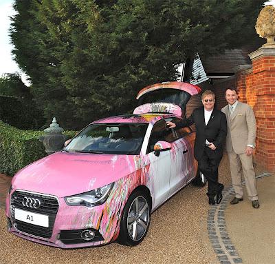 Elton John Audi A1 Photos