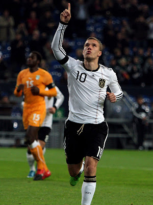 Lukas Podolski World Cup 2010 Football Poster