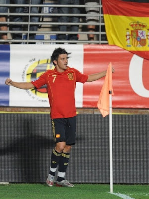 David Villa World Cup 2010 Spain Football Player