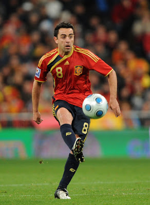 Xavi Hernandez World Cup 2010 Football Poster