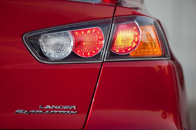 2010 Mitsubishi Lancer Evolution GSR Rear Light