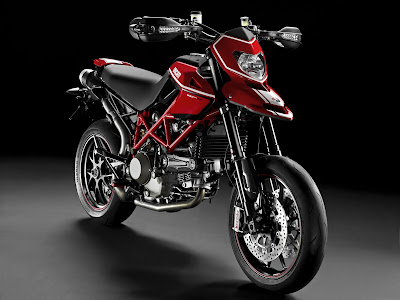 2010 Ducati Hypermotard 1100 EVO SP Front Angle View