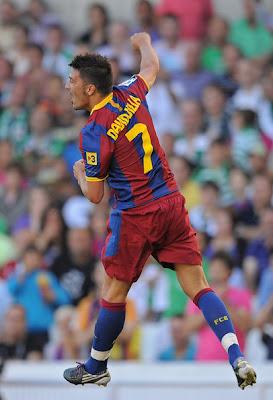 David Villa Barcelona Poster