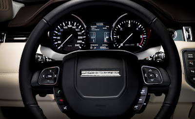 2012 Land Rover Range Rover Evoque Clauster Gauge and Steering Wheel View