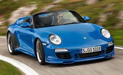 2011 Porsche 911 Speedster Front Angle View