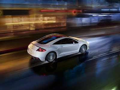 2011 Mitsubishi Eclipse GS Sport Rear Side in Motion View