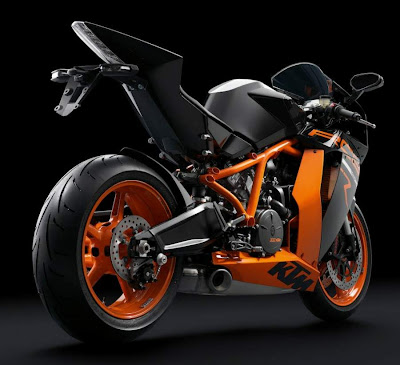 2011 KTM 1190 RC8R Rear Angle View