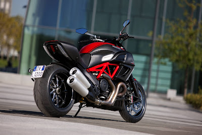 2011 Ducati Diavel Carbon Rear Angle View