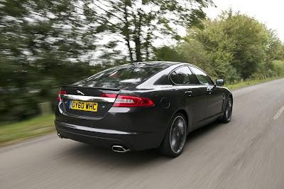 2011 Jaguar XF Black Pack Rear Side View