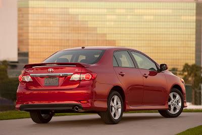 2011 Toyota Corolla Rear Angle View