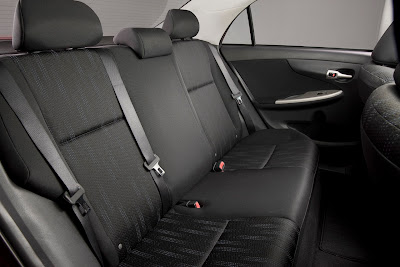 2011 Toyota Corolla Rear Seats