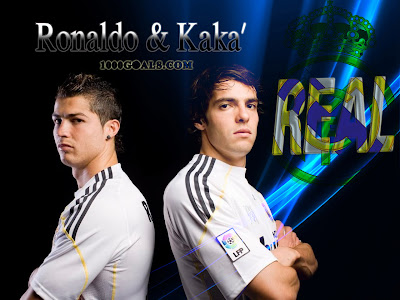 Real Madrid Cristiano Ronaldo & Kaka Football Players