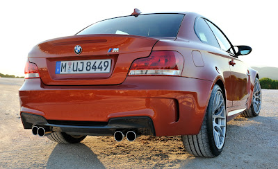 2011 BMW 1 Series M Coupe Rear Angle View