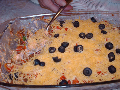 Refried Bean 7 Layer Dip & Happy Clean Living: Food Storage Recipe: Refried Bean 7 Layer Dip