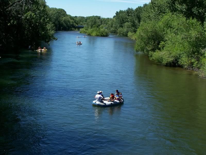 Boise River Float - Flat Water Paddling