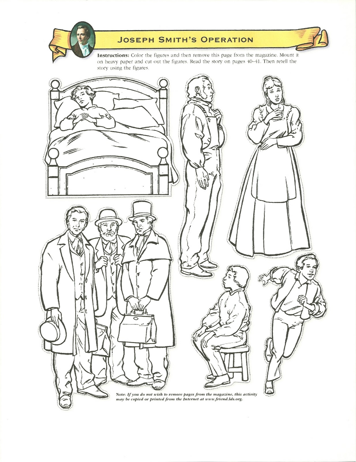 clip art joseph smith coloring pages mycoloring free printable