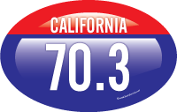 California 70.3 sticker design