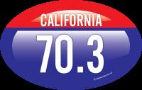 California 70.3 sticker design