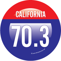 California 70.3 ornament design