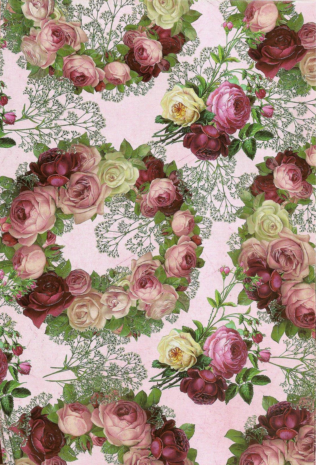 Laminas decoupage laminas de flores para los trabajos - Laminas para pared ...
