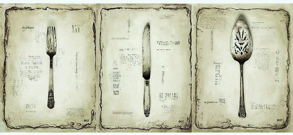 Laminas decoupage laminas para la cocina cubiertos - Laminas antiguas para cuadros ...