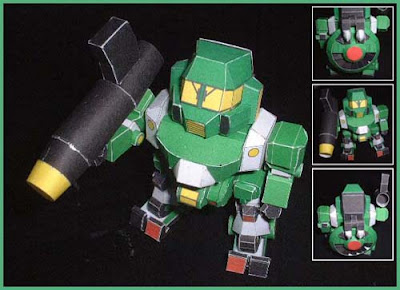 Robot  Papercraft - SD Walker Galliar