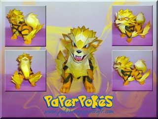 Pokemon Papercraft - Arcanine