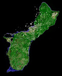 Satellite view of Guam