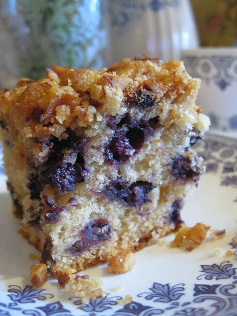 My Domestic Bliss: Baking With Dorie: Blueberry Crumb Cake