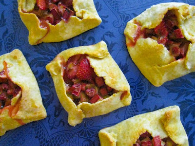 Strawberry-rhubarb tartlettes