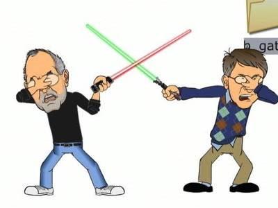 Bill Gates y Steve Jobs.