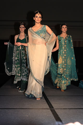 Fashion Models in Bridal Sarees, Salwar Kameez & High Heels