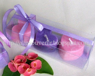 lilin hias souvenir pernikahan
