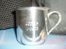 Coopers silver cup from Grandma Jeanie!