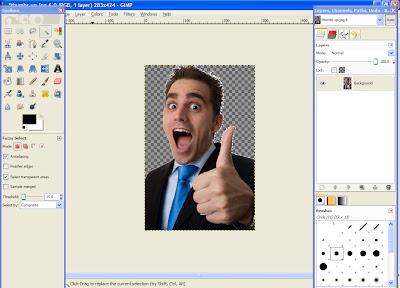 gimp 3 How To Make An Image Transparent