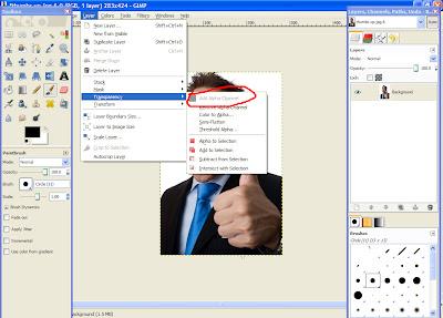gimp 2 How To Make An Image Transparent