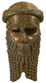 Akkadian bronze head