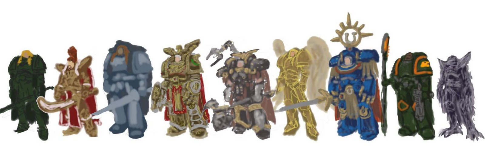 tim johnson art blog  primarchs