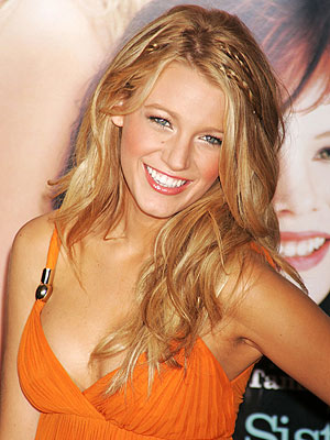 blake lively hair straight. lake lively short hair.