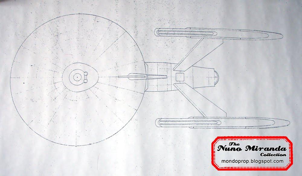 Nuno mirandas original film tv props collection star trek rare blueprints of the enterprise and galileo 9 shuttlecraft malvernweather Images