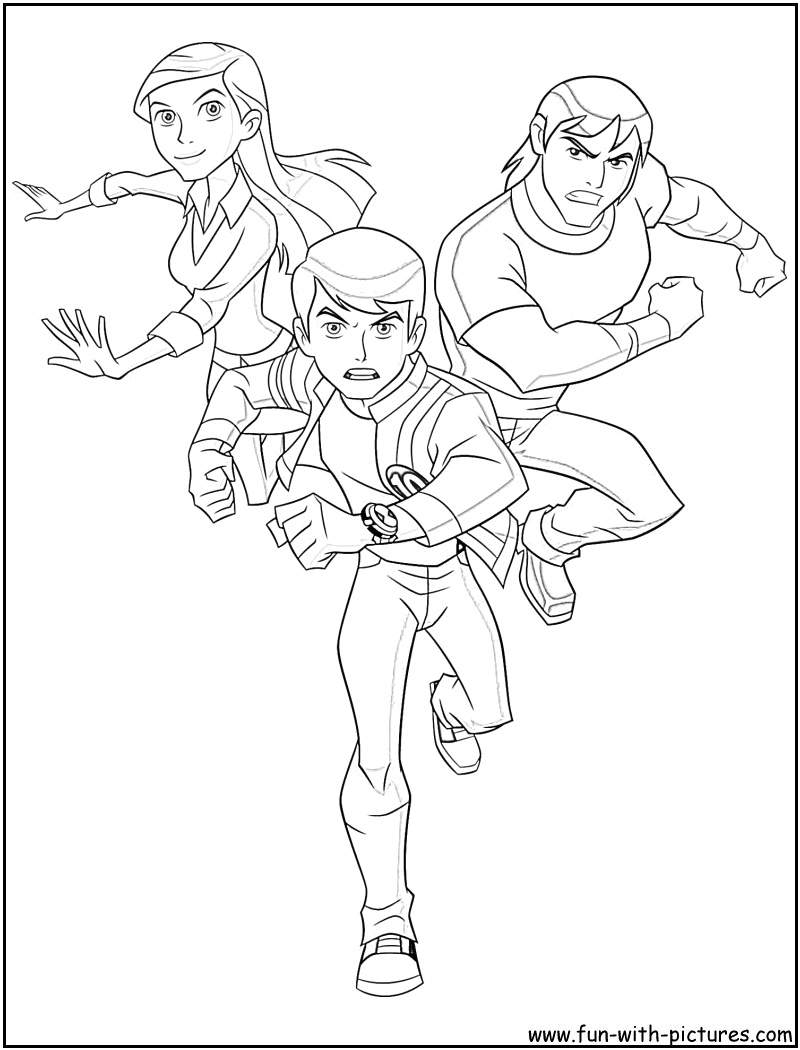 Ben 10 Coloring Book Pages