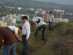 Tree Plantation Activity on Baner Hill by UNIKEN employees