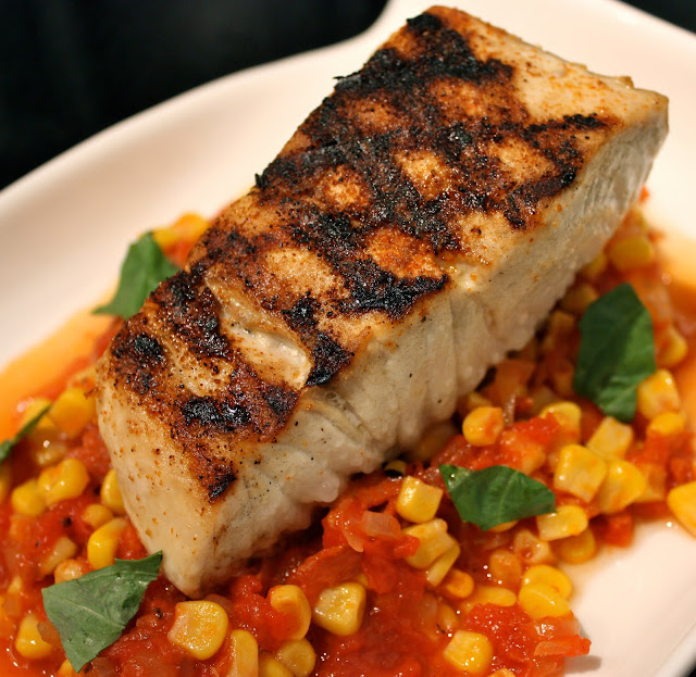 Have her over for dinner grilled amberjack over chorizo for Amberjack fish recipes